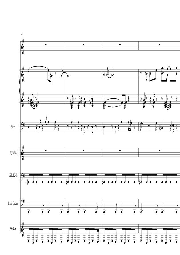 Acai na tigela钢琴谱 第4页