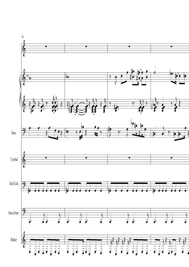 Acai na tigela钢琴谱 第5页