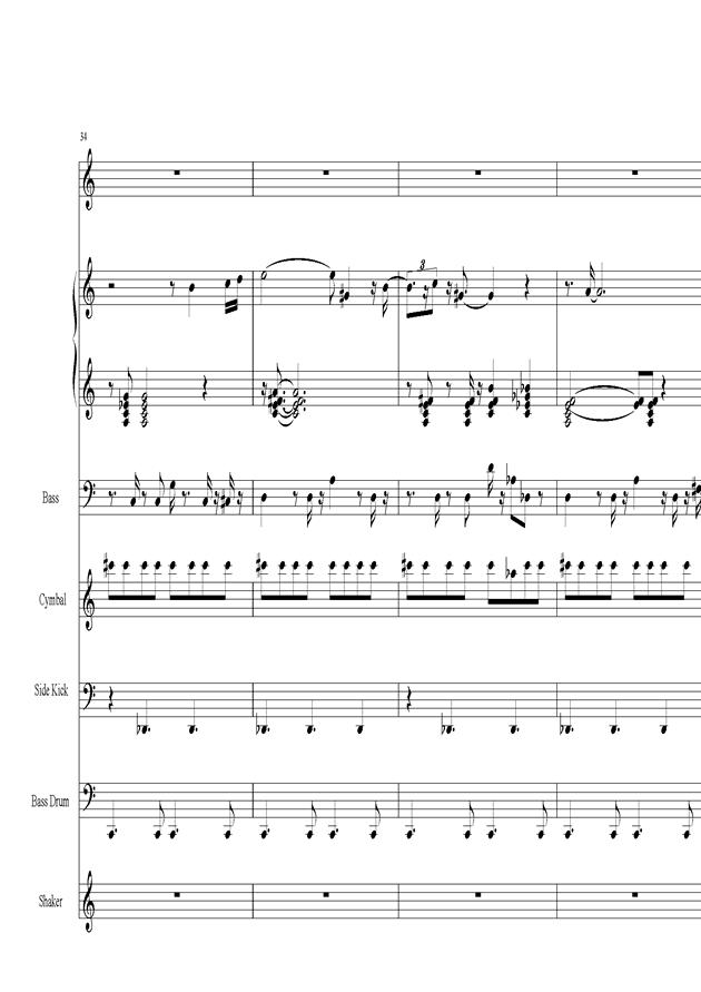 Acai na tigela钢琴谱 第7页