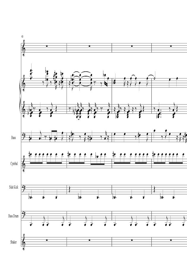 Acai na tigela钢琴谱 第9页