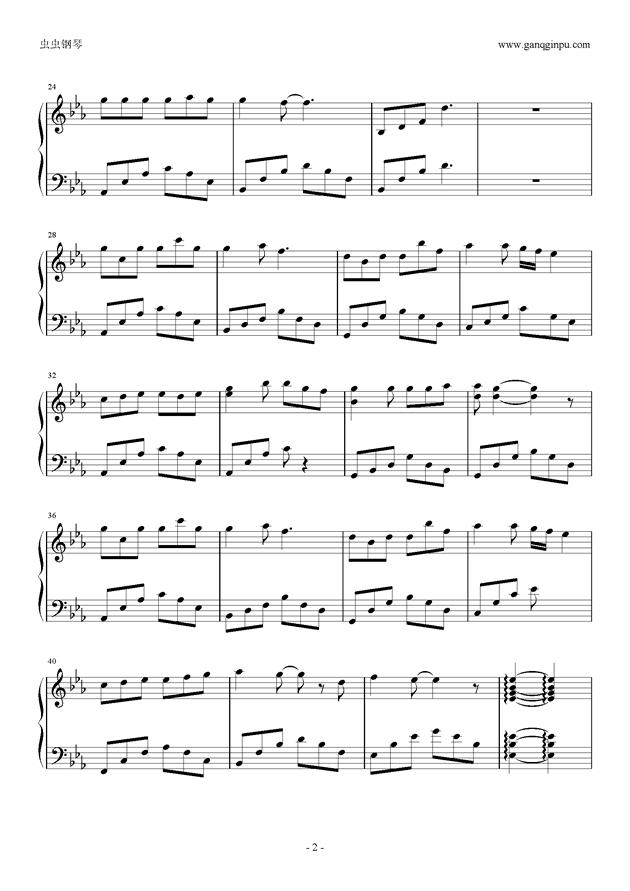 走在冷风中钢琴谱 第2页