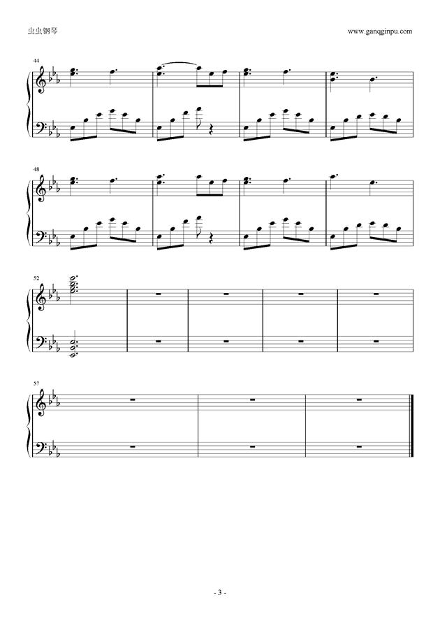 走在冷风中钢琴谱 第3页