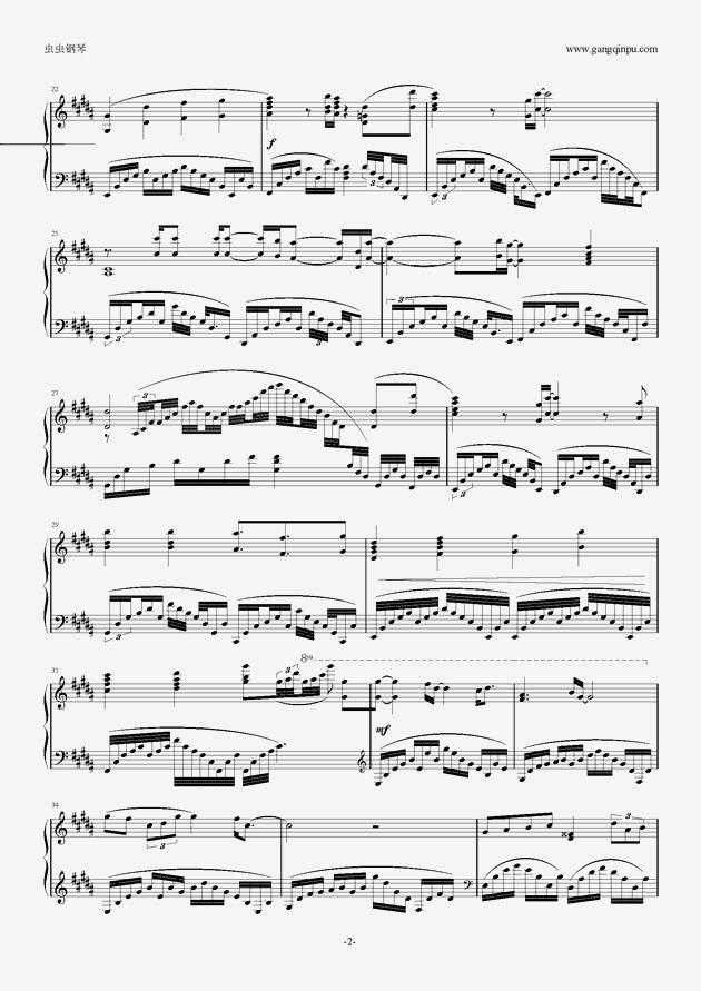 OST Glassy Sky钢琴谱 第2页