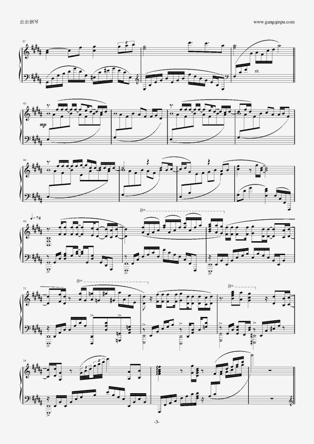 OST Glassy Sky钢琴谱 第3页