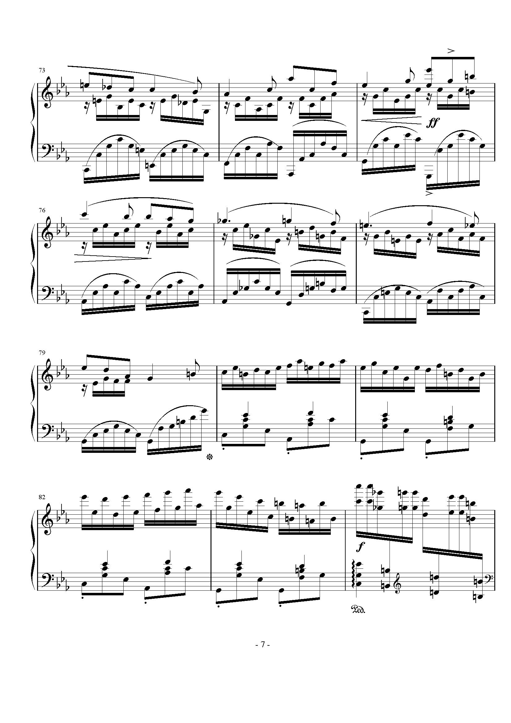 纸短情长谱子c-钢琴谱 c小调 前奏曲