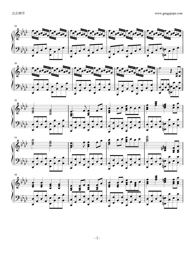 Taketori Hishou钢琴谱 第2页