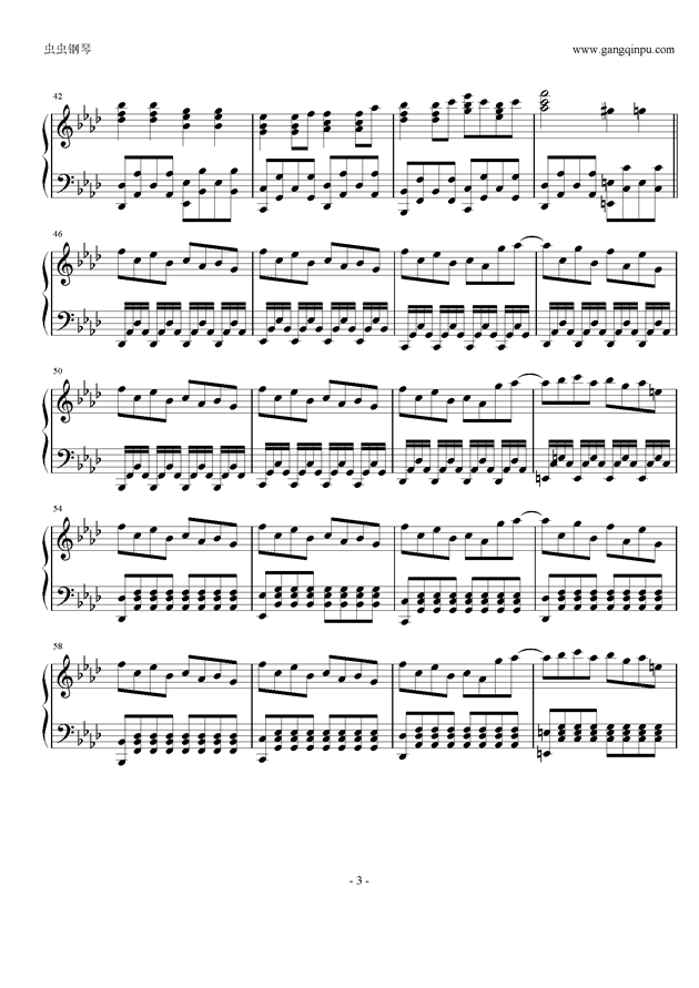 Taketori Hishou钢琴谱 第3页
