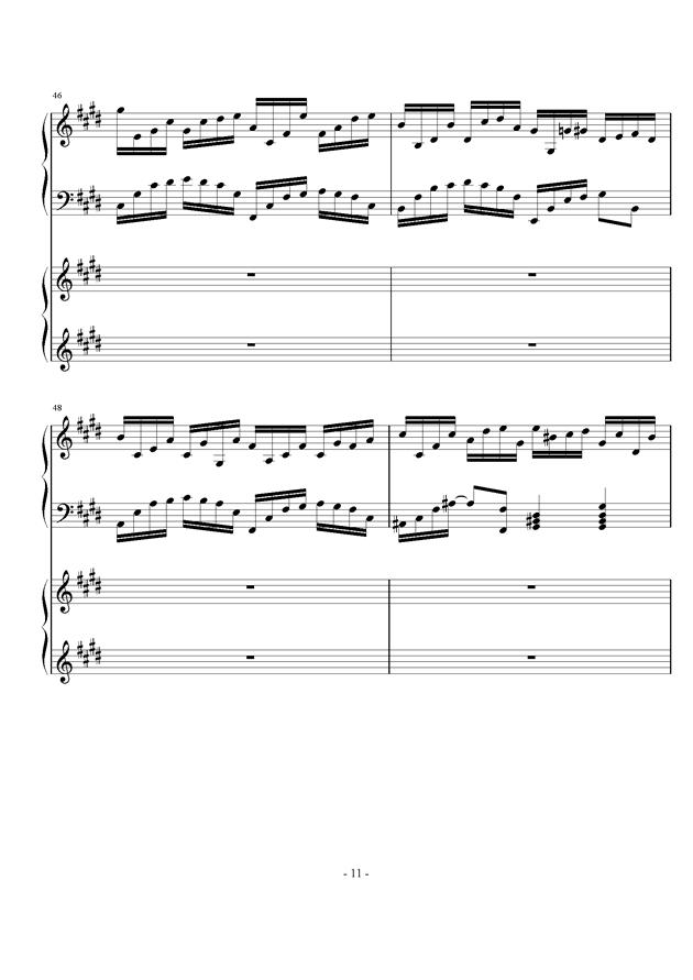 时夏钢琴谱 第11页