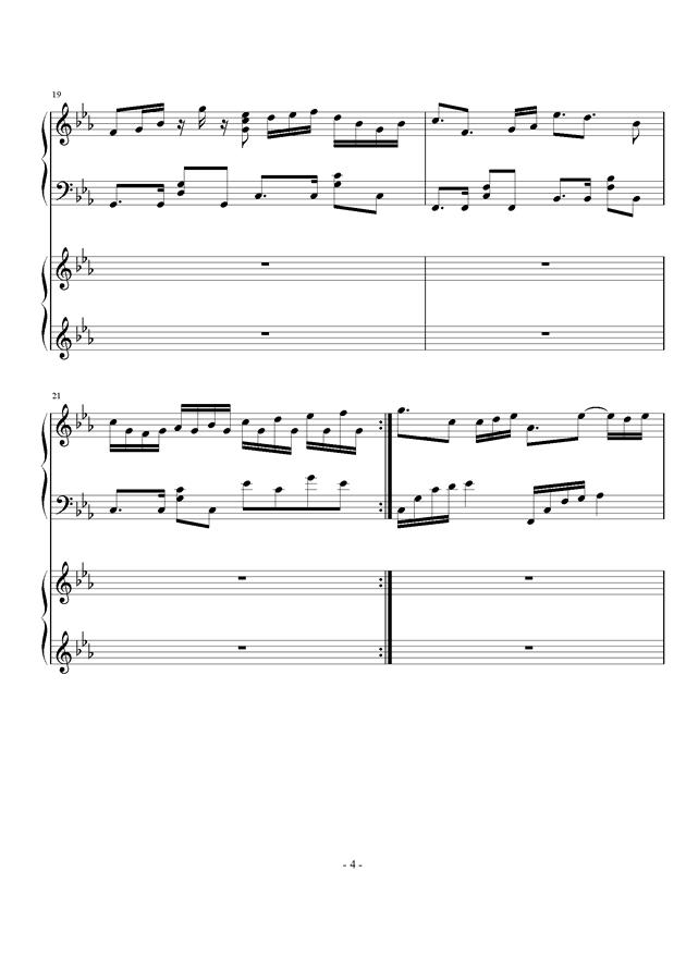时夏钢琴谱 第4页