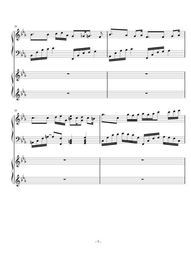 时夏钢琴谱 第5页