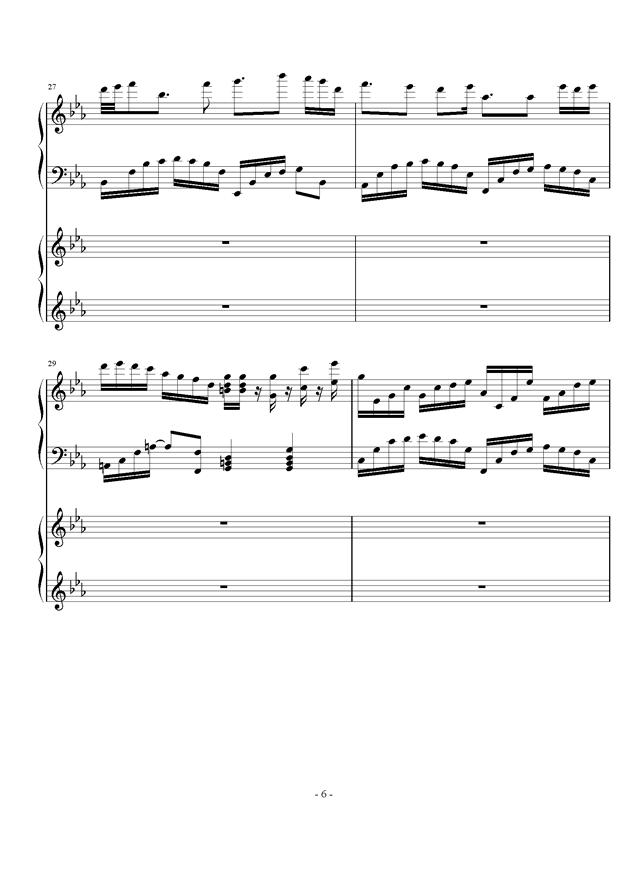 时夏钢琴谱 第6页