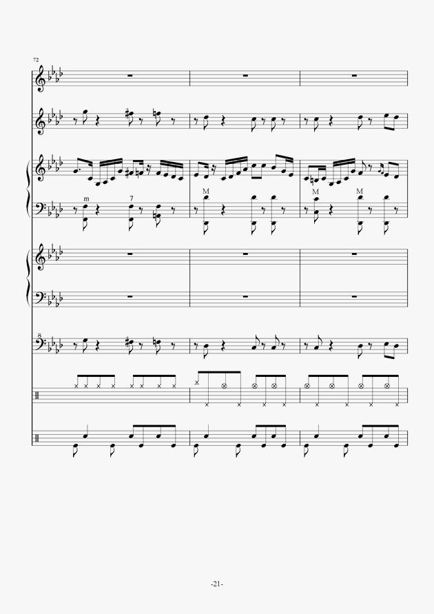 Quo Vadis钢琴谱 第21页