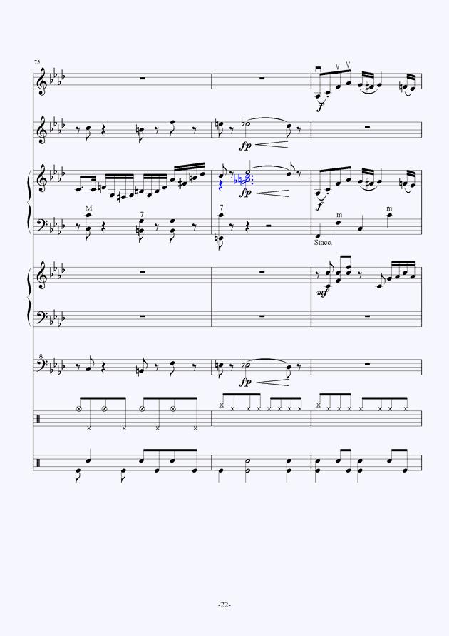 Quo Vadis钢琴谱 第22页