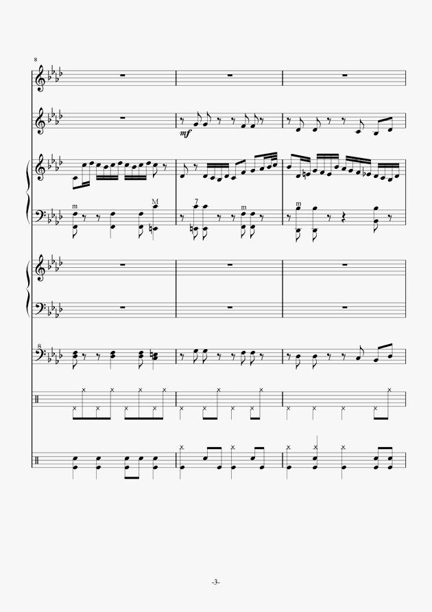 Quo Vadis钢琴谱 第3页
