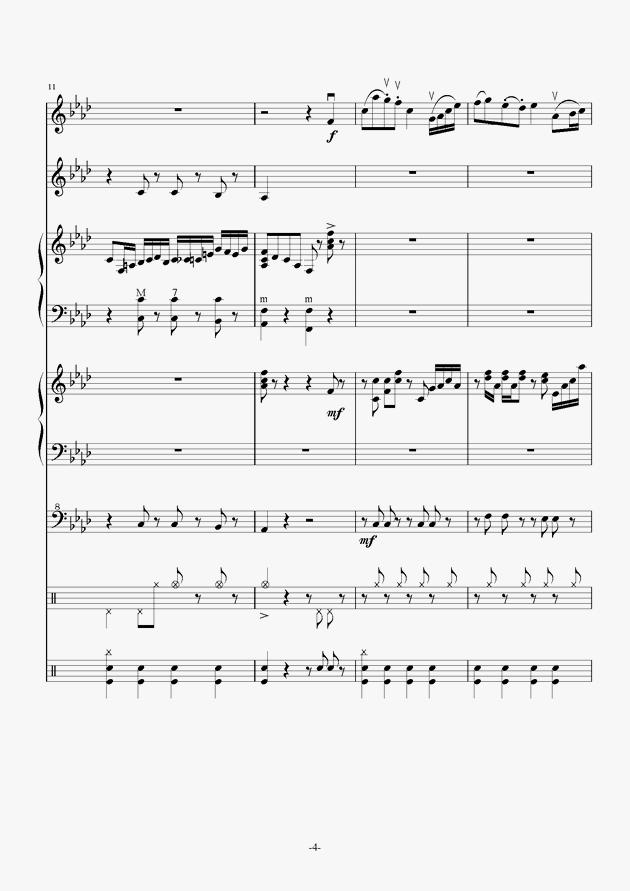 Quo Vadis钢琴谱 第4页