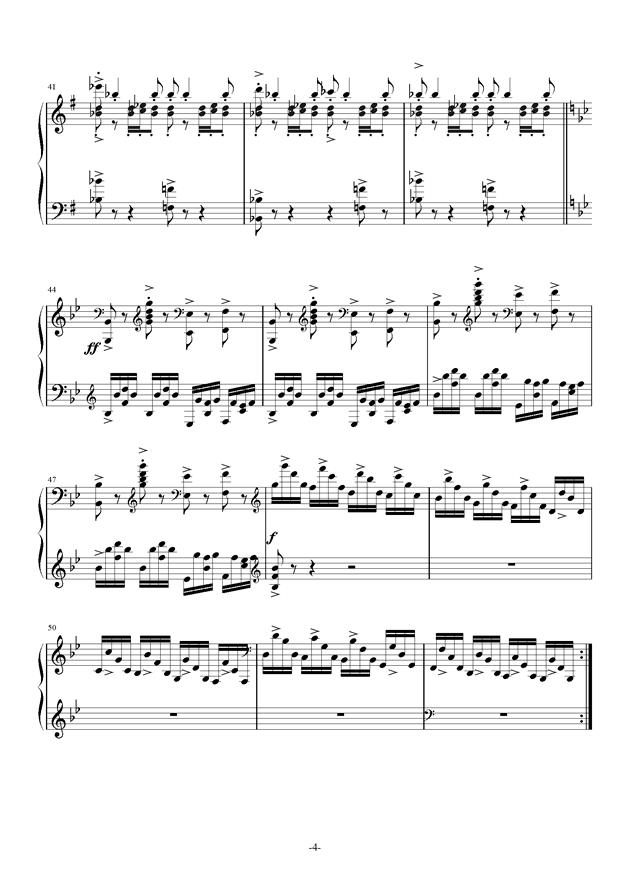 summer holiday钢琴谱 第4页