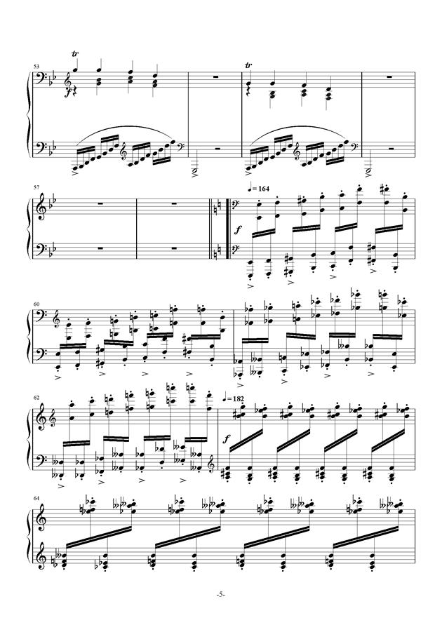 summer holiday钢琴谱 第5页