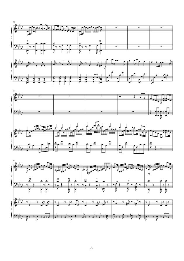 Quo Vadis钢琴谱 第5页
