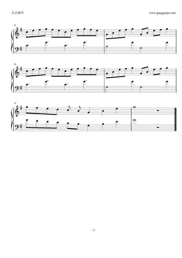 泪水谷钢琴谱 第2页