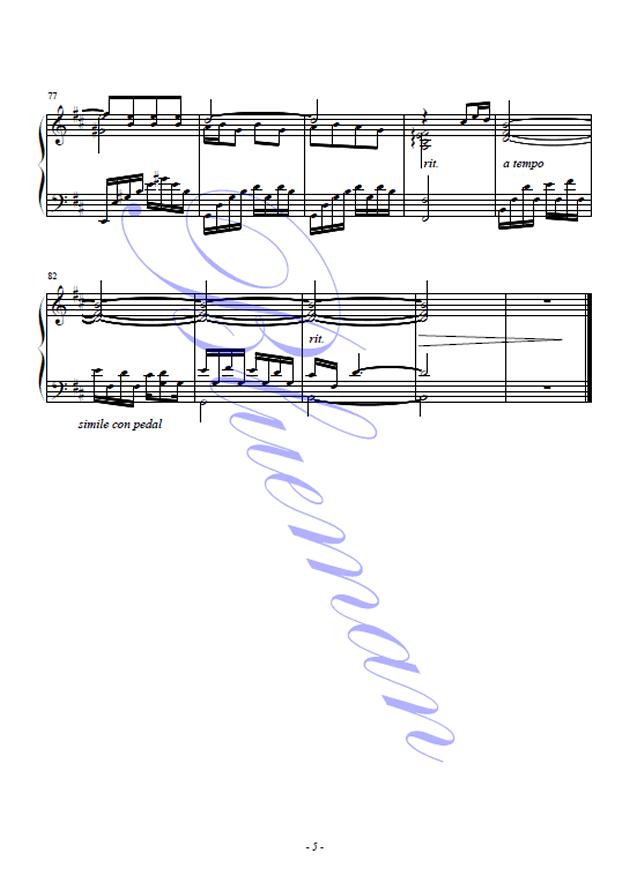 橄榄树钢琴谱 第5页