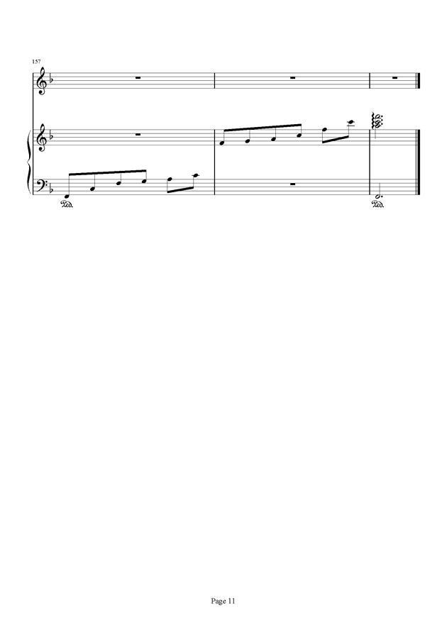 千与千寻和卡农合奏钢琴谱 第11页