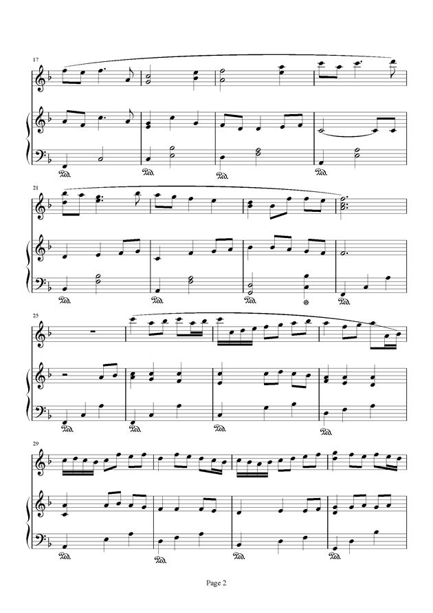 千与千寻和卡农合奏钢琴谱 第2页