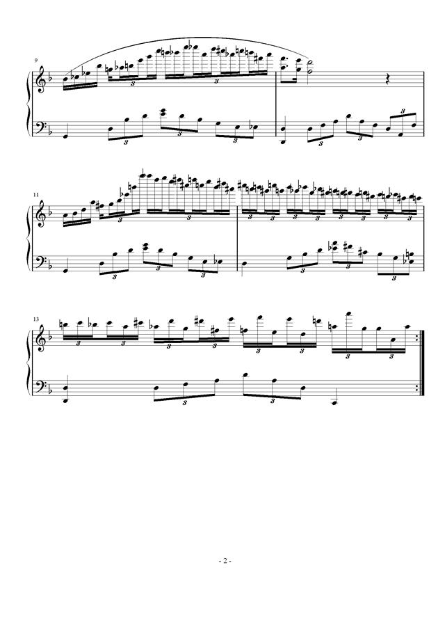 肖邦夜曲印象钢琴谱 第2页