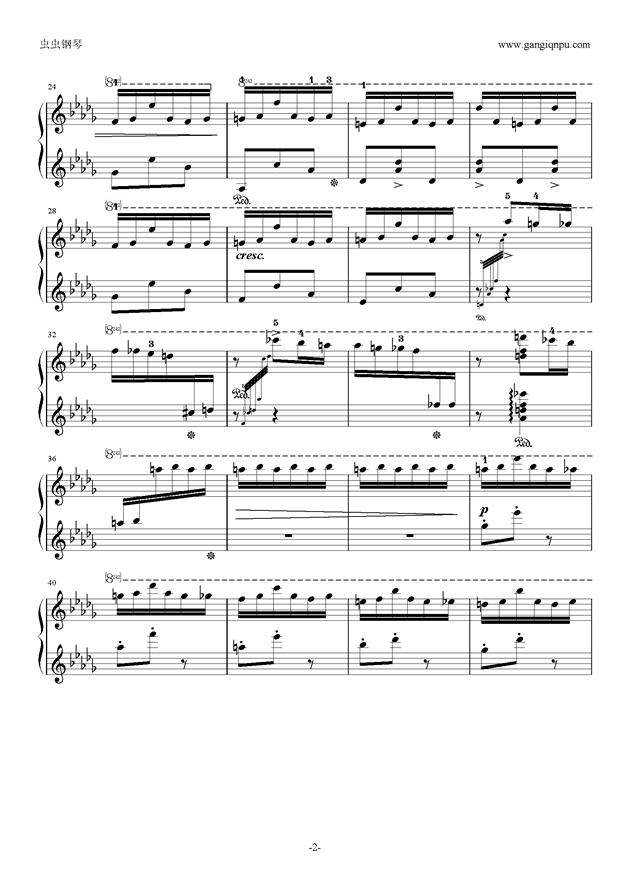 花纹钢琴谱 第2页