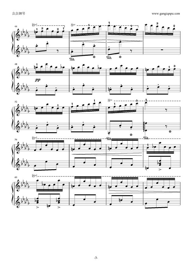 花纹钢琴谱 第3页