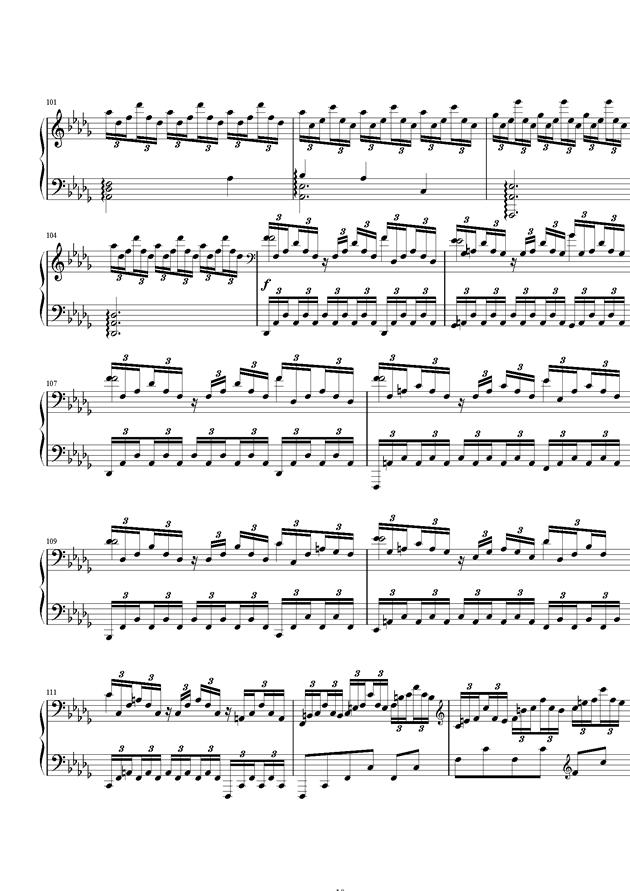 严冬钢琴谱 第10页