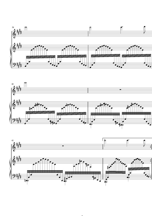 严冬钢琴谱 第7页