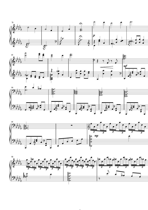 严冬钢琴谱 第9页