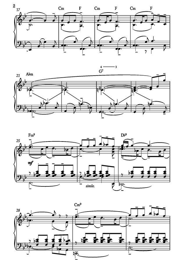 Barcarolle钢琴谱 第2页