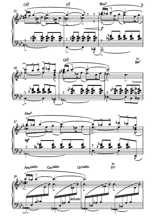 Barcarolle钢琴谱 第3页