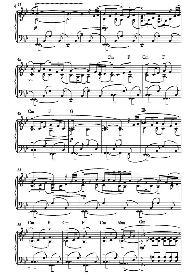 Barcarolle钢琴谱 第4页