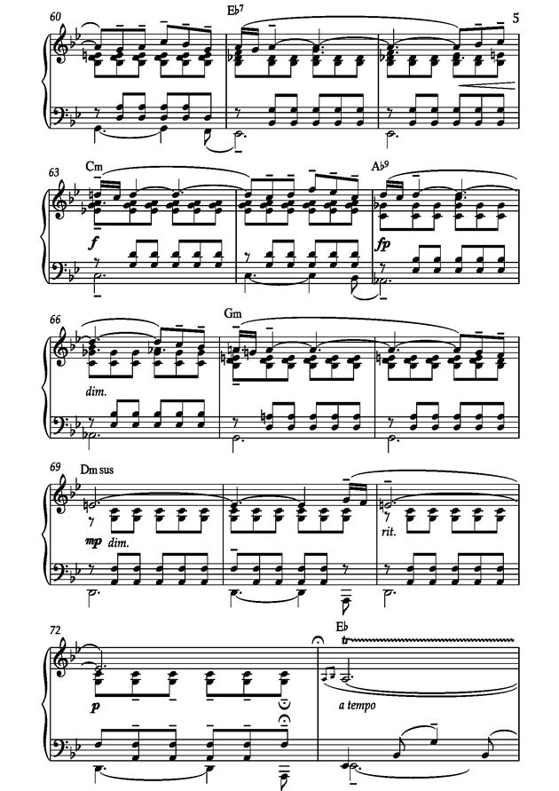 Barcarolle钢琴谱 第5页