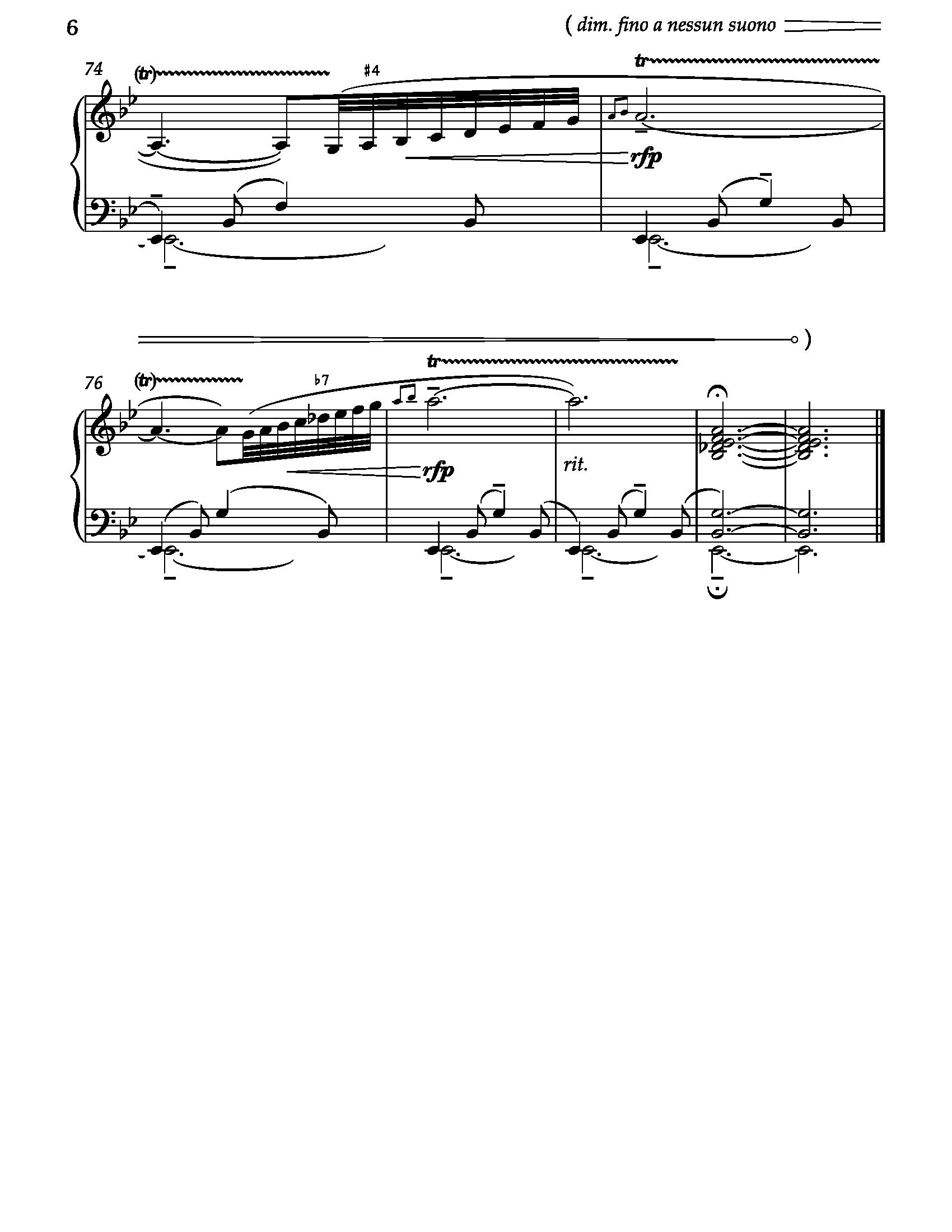 Barcarolle钢琴谱 第6页