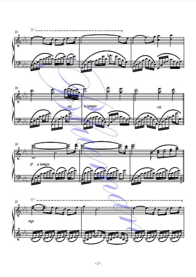 One Man's Dream钢琴谱 第2页