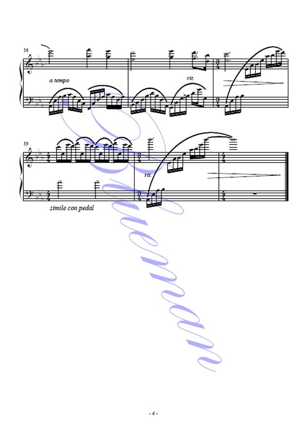One Man's Dream钢琴谱 第4页