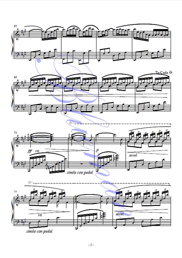 Until the Last Moment钢琴谱 第5页
