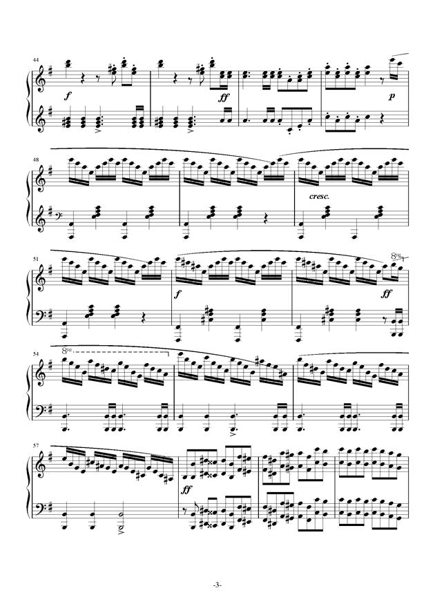 谐虐曲钢琴谱 第3页