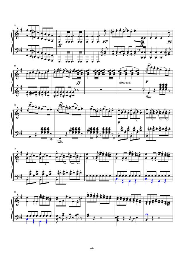 谐虐曲钢琴谱 第4页