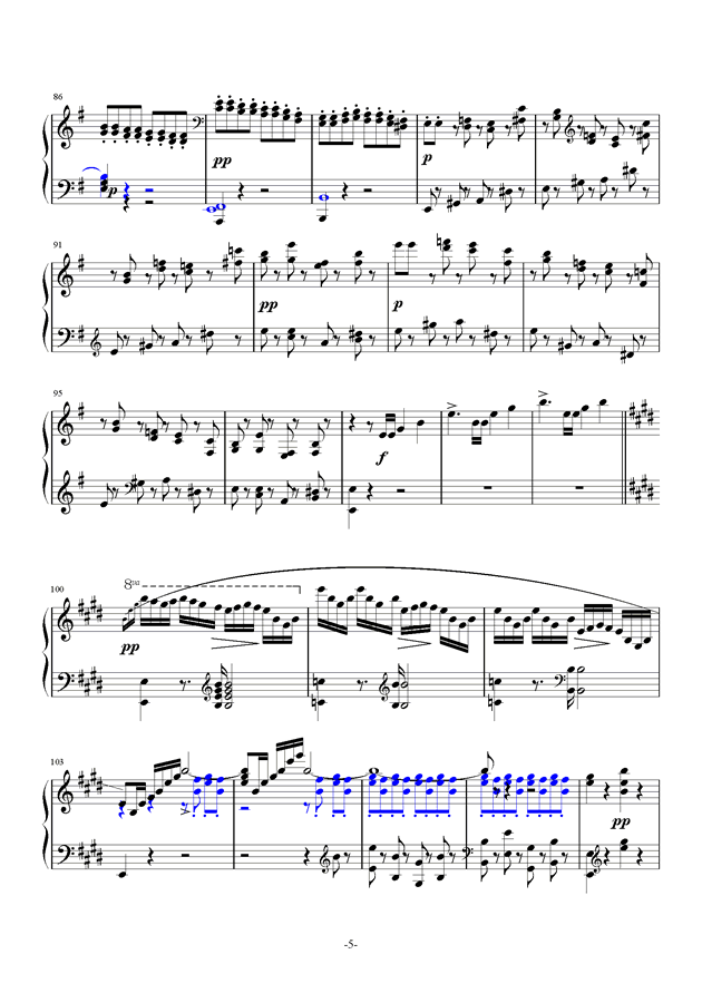 谐虐曲钢琴谱 第5页