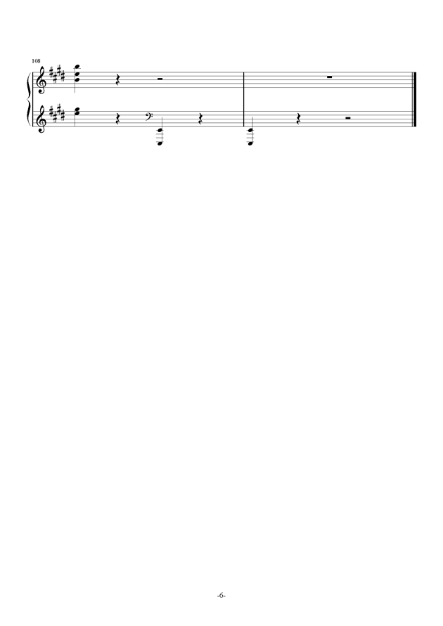 谐虐曲钢琴谱 第6页