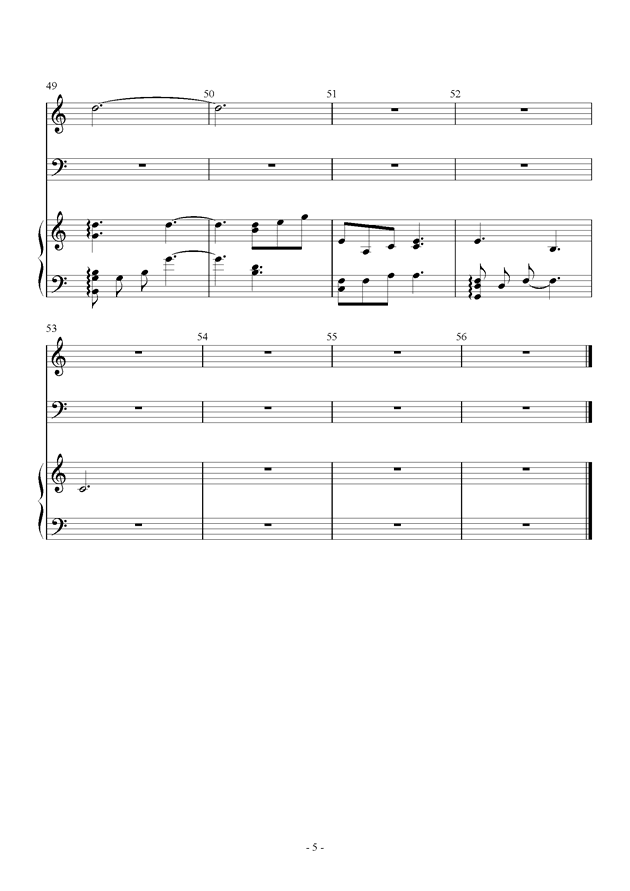 Dream钢琴谱 第5页