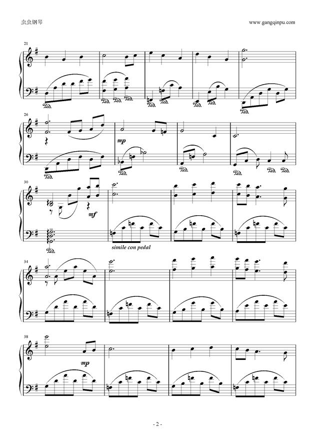 龙之梦钢琴谱 第2页