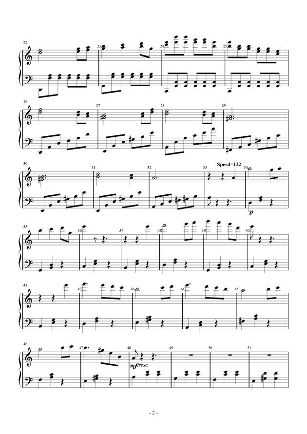 Tune One钢琴谱 第2页