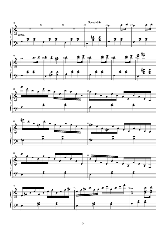 Tune One钢琴谱 第3页