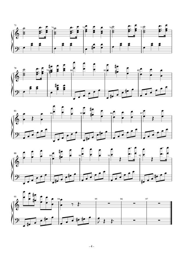 Tune One钢琴谱 第4页