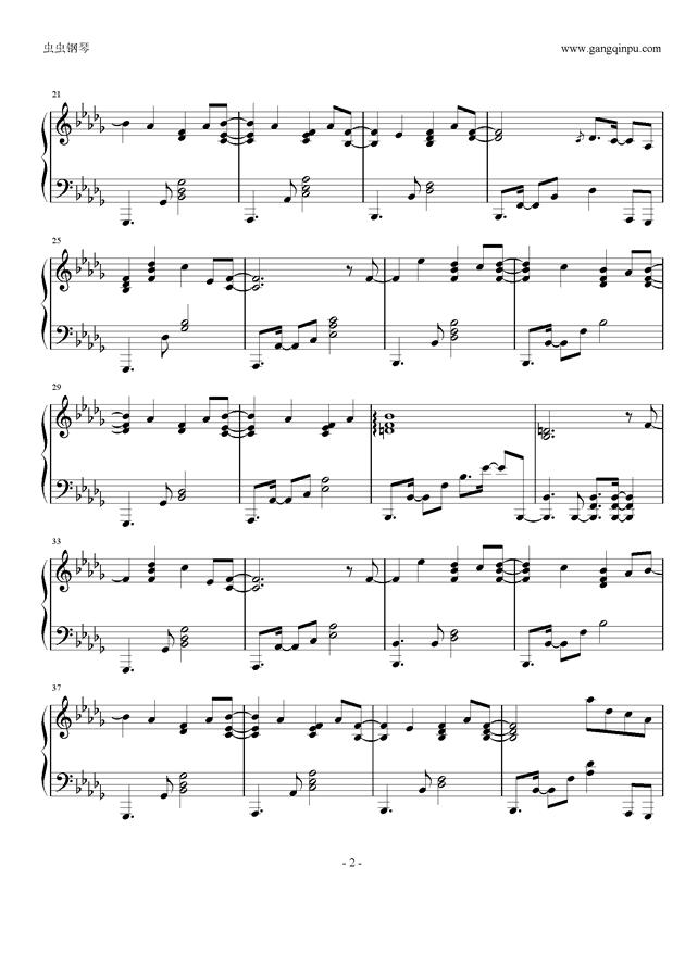 少女安眠钢琴谱 第2页